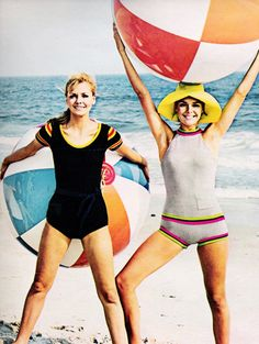 Knit swimwear by Bobbie Brooks, March 1968.
