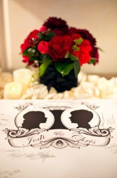 Wedding Silhouette Guest Book