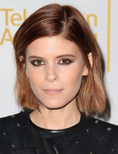 Try smudging your liner underneath the bottom lashes for a sultry look à la Kate Mara.