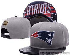 New England Patriots Gray Snapback Hats Brim Leather Under Logo Pattern New  England Patriots Snapback 594bd37d8c00