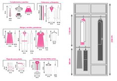 diseño de closet medidas estandar - Buscar con Google