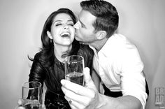 'Cheers & Kisses! Kisses & Cheers!' There might be hope for #Thrady just yet! Get ready for the emotional roller coaster that is the #DaysOfOurLives 50th Anniversary #Days50! @Jen_Lilley & @EricMartsolf of @NBCDays for #DreamLoudOfficial DreamLoudOfficial.com / Photograph By @Bradley206 #BradEverettYoung / #DreamLoud #JenLilley #EricMartsolf #Theresa #Brady #Days #DOOL #50th #Anniversary #NBC #Sony / Photo taken w/ the @Sony #A3000