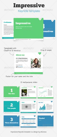 Impressive Keynote template - GraphicRiver Item for Sale