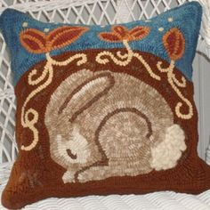 designed by Ann K for AngelGirl, a rug-hooking studio