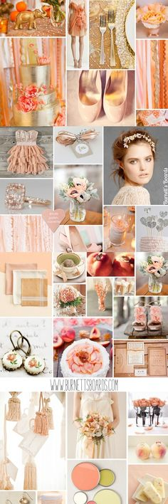 Peach Wedding Inspiration ~ #peach #wedding #inspiration @WedFunApps wedfunapps.com ♥'d via BurnettsBoards