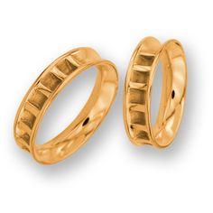 obrączki z czerwonego złota (OB 13) - szerokość 5 mm