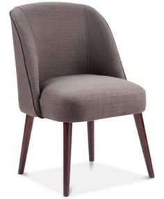 With its soft, inviting curves, the Madison Park Bexley Rounded Back Dining Chair is an ideal complement to your eating space. Upholstered in a textured fabric and foam cushioned for comfort, it rests atop thin tapered legs for a stunning look. Round Back Dining Chairs, Dining Room Chairs, Kitchen Chairs, Cool Chairs, Swing Chairs, Arm Chairs, Lounge Chairs, Space Furniture, Furniture Ideas