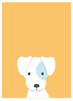 Art And Illustration, Pattern Illustration, Nursery Prints, Nursery Art, Animal Drawings, Cute Drawings, Baby Posters, Dog Poster, Dog Wallpaper