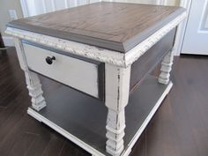 Farmhouse rustic Antique Side table, sofa table. Farmhouse rustic table, shabby chic furniture, antique side table on Etsy, $80.00