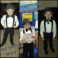 100th day of school - dress up like an old man