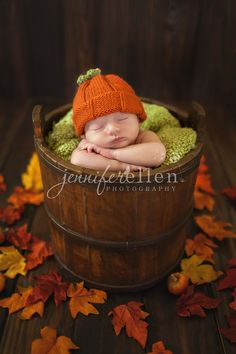 Fall newborn photo idea- precious!