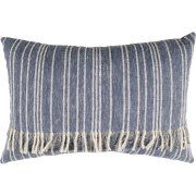 Better Homes and Gardens Fringed Blue Denim Decorative Pillow