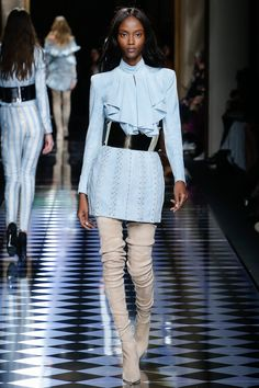 Balmain | Fall/Winter Ready-To-Wear Collection via Designer Olivier Rousteing | Modeled by Riley Montana | March 3, 2016; Paris