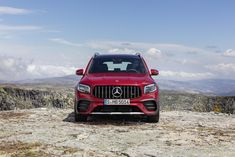 The new seven-seat compact GLB crossover gets turned up a notch. Mercedes Amg, Mercedes Benz Germany, Crossover, Compact, Digital Instruments, Dual Clutch Transmission, Sport Seats, Audi Tt, Black Accents