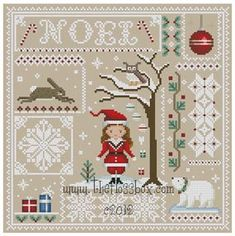 Christmas Sampler for Cross Stitch by Theflossbox on Etsy, $4.75