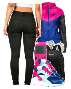 """""""10.05.15"""" by jadeessxo on Polyvore featuring NIKE, Auriya and Michael Kors"""