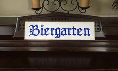 BIERGARTEN Beer Garden Sign German Oktoberfest Party Decor Bavarian Plaque Wooden HP You Pick Color