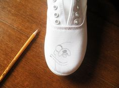 Temporarily Derailed Work in Progress — DIY Adventure Time Shoes