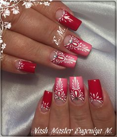 OK Elegant Nail Designs, New Nail Designs, Manicure Nail Designs, Nail Manicure, Hot Nails, Pink Nails, Nail Art Arabesque, Swirl Nail Art, Henna Nails