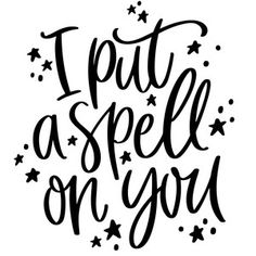 Silhouette Design Store: I Put A Spell On You Halloween Phrase Halloween Phrases, Halloween Quotes, Halloween Make, Halloween Vinyl, Halloween Costumes, Halloween Cookies, Halloween Projects, Halloween Nails, Silhouette Projects