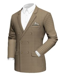 Brown double breasted checked tweed Blazer http://www.tailor4less.com/en-us/men/blazers/1882-brown-double-breasted-checked-tweed-blazer