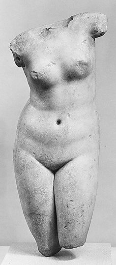 Marble statuette of Aphrodite Anadyomene (rising) Hellenistic , 3rd - 2nd century BC
