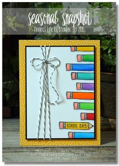 Design by Connie Collins with the Project Life Seasonal Snapshot 2015 stamp set by Stampin' Up!
