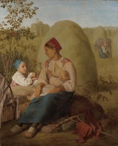 Les foins Alexei Gavrilovitch Venetsianov, circa 1820 Huile sur toile, environ 66 x 54 cm State Tretyakov Gallery, Moscou, Russie Russian Folk, Russian Art, Breastfeeding Images, Life In Russia, Russian Painting, Art Database, Art Studies, Art And Architecture, Great Artists