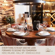 """LIND DNA on Instagram: """"We have everything ready for HOST Milano fair tomorrow. Meet us at:  Hall 9P Stand A11 B10. Hope to see you there! 🍴🍸 #linddna…"""" Dna, Everything, Table Settings, Meet, Dining, The Originals, Instagram, Food, Table Top Decorations"""
