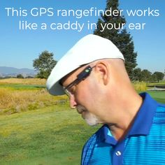 This wearable golf GPS rangefinder gives you audible insight into yardage and position. The lightweight clip-on device measures your last shot and distance to the green's center using your phone's GPS. A companion app aerially browses over 30,000 courses to help keep you on top of your game. Great Gifts For Dad, New Gadgets, Health And Safety, Country Farmhouse, Farmhouse Decor, Advent Ideas, Golf Stuff, Technology, Distance