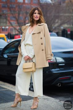 de34dfb2de3 cropped wide-leg trousers with a matching blouse and camel coat for a chic  winter