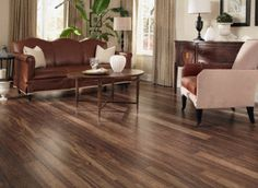 Natural Acacia has beautiful color variations and a handscraped texture for the look of hardwood with a laminate price!