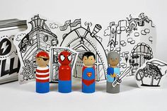 Turn Wooden Pegs into Kid-Appoved Action Figures  my uncle used to do this fir is when we were kids!