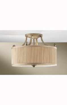 Murray Feiss Abbey Abbey 3 Light Indoor SemiFlush Mount in Silver Sand Finish Silver Sand
