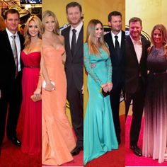 Dale Jr and Amy through the years at the banquet awards.
