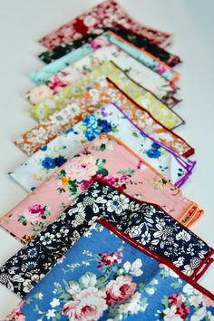Pocket Square with floral patterns accented with greenery design. Floral  Patterns 12237a076e3f