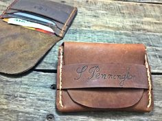 This FLAP WALLET is a personalized handmade and handstitched leather wallet that is perfect as a Groomsmen gift, Birthday Gift, Anniversary Gift, Boyfriend gift, Husband gift, Wedding Party, Fathers Day gift and the best Christmas Gift. Our leather wallets get better with age and the classic design will never go out of style.