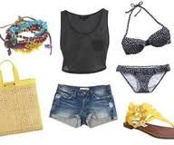 cute bathing suit, shirt, shorts and well everything