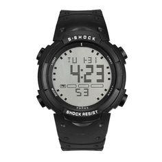 luxury Brand HONHX Men's Boy Fashion Military Digital LED Date Sport Quartz Wrist Watch Water Resistant Wristwatches
