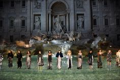 #Fendi celebrated its 90th anniversary Thursday night with a spectacular #runway show in #Rome.