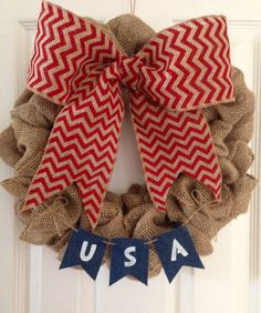 4th of July Wreath/Patriotic Wreath - @jltheisen88 I LOVE THIS!!!!!!!!!! I gotta say... it looks like it belongs on @ktancin door though!!! <3 <3 <3