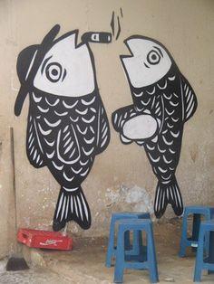 Graffiti de Derlon Almeida em bar Recife Brasil