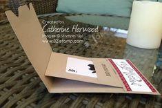 envelope punch board gift card holder- slider style