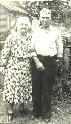 "Frederick J. ""Fred"" Stroup with Mother Laura M Stroup (born Garrison)"