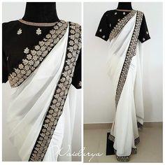Simple Sarees, Trendy Sarees, Stylish Sarees, Fancy Sarees Party Wear, Saree Designs Party Wear, Indian Designer Outfits, Indian Outfits, Indian Clothes, Sari Blouse Designs