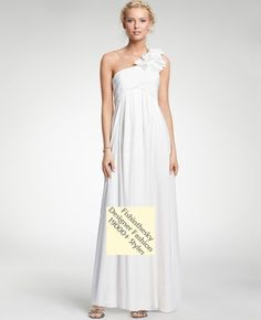 2011 Style Empire One Shoulder Sleeveless Floor-length Chiffon Corsage Beach Wedding Dress For Brides