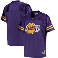 Los Angeles Lakers G-III Sports by Carl Banks Football Jersey - Purple