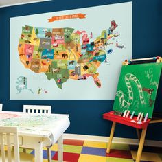 USA Map Peel and Stick. Let your children discover our nation with the Peel…