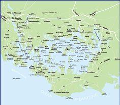 Carte des iles du Golfe du Morbihan. Brittany Voir plus dans le tableau: 'Golfe du Morbihan'