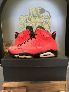 sports shoes 75e5d b31d5 Rare Jordan VI 6 Retro INFRARED 23 BLACK TORO RED OCTOBER Free Size 11.5